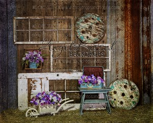Aqua Barn -  8FT x 10FT Polyester (Horizontal Design)