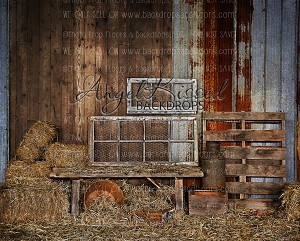 Barn Wall - 8x10 Sweatshirt Material (Horizontal Design)