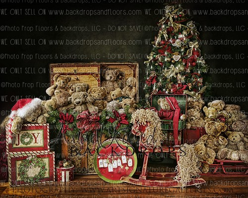 Beary Christmas 1 - 8x10 Polyester (Horizontal Design)