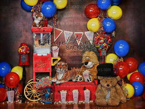 Circus Time 3 (No Curtain) - 80x60 Fleece (Horizontal Design)