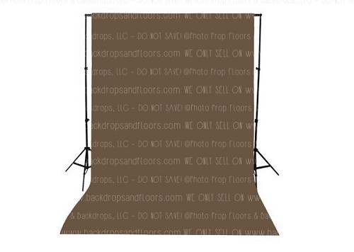 Chocolate Brown Solid Color Seamless Matte Finish Fabric Photography Backdrop