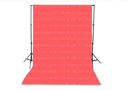 Coral Solid Color Seamless Matte Finish Fabric Photography Backdrop