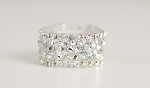 (TP) Crystal Band Accent Ring
