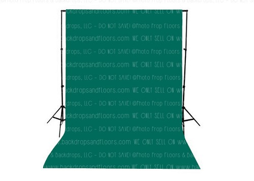 Dark Teal Solid Color Seamless Matte Finish Fabric Photography Backdrop