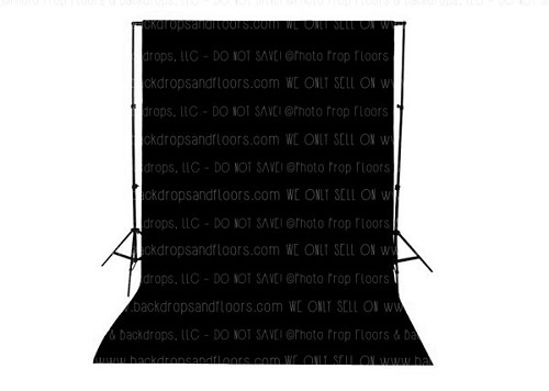 Deep Black Solid Color Seamless Matte Finish Fabric Photography Backdrop