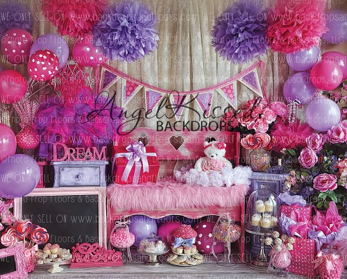Happy Pink and Purple Day 4 - 8x10 Polyester (Horizontal Design)