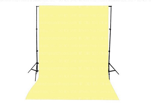 Lemon Cream Solid Color Seamless Matte Finish Fabric Photography Backdrop