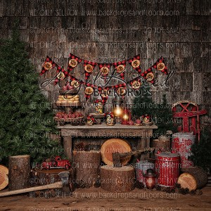 lumber jack christmas 1 10x10 polyester