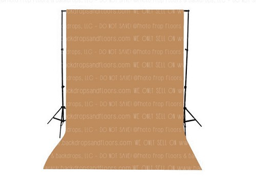 Mocha Solid Color Seamless Matte Finish Fabric Photography Backdrop