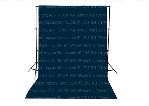 Navy Blue Solid Color Seamless Matte Finish Fabric Photography Backdrop
