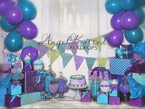 Purple and Teal Birthday - 60x80 (Horizontal Design)