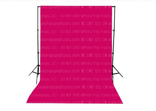 Raspberry Pink Solid Color Seamless Matte Finish Fabric Photography Backdrop