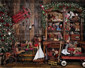 Santa's Workshop 3 - 8x10 (Horizontal Design)