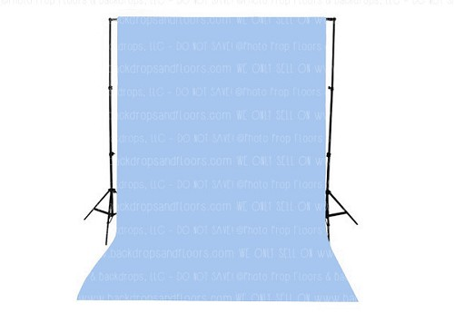 Sky Blue Solid Color Seamless Matte Finish Fabric Photography Backdrop