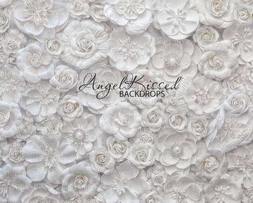 White Flower Wall 1 - 10x8 (Horizontal Design)