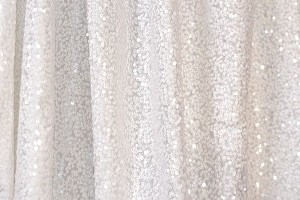 White Shimmery Sequin Fabric Photography Backdrop