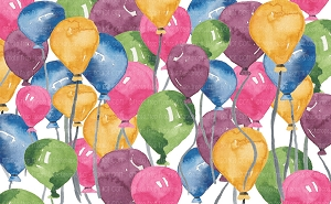 Balloons Water Color 1 (Horizontal Design)