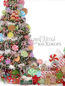 Candy Tree Christmas 4 - 60x80  (Vertical Design)