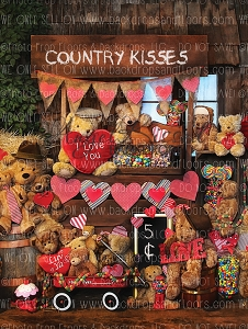 Country Kisses 3 - 60x80 (Vertical Design)