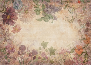 Painterly Vintage Light Flowers