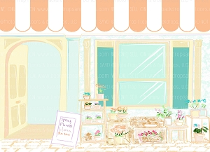Flower Shop 3 (Horizontal Design)