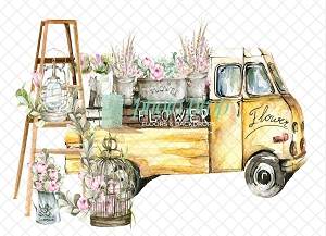 Flower Truck 3 (Horizontal Design)