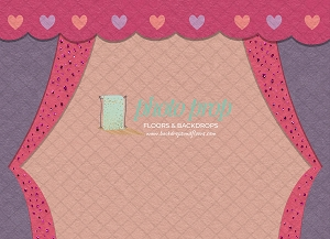 Painterly Pink Curtain (Horizontal Design)