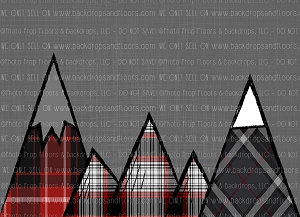 Plaid Mountains 1 (Horizontal Design)