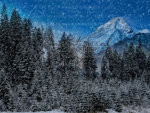 Snow Mountain - Multiple Sizes (Horizontal Design)