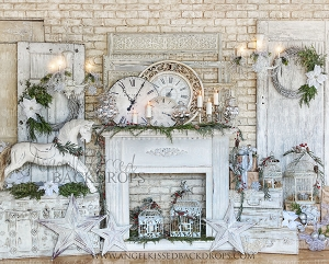 Christmas Fireplaces and Mantles