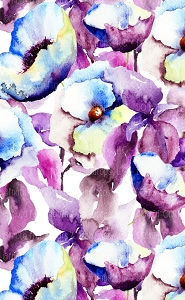 Water Color Flowers 17