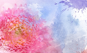 Water Color Flowers 7 (Horizontal Design)