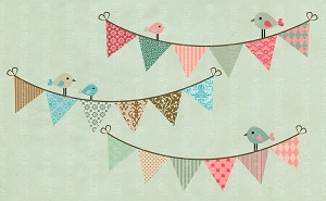 Whimsy Birds 4 (Horizontal Design)