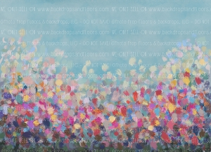 Painterly Colourful Field (Horizontal Design)