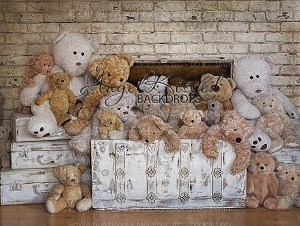 Tickle Trunk Teddies - 80x60 (Horizontal Design)