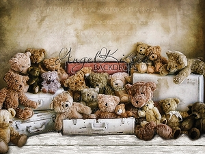 Traveling Teddies 1 - 80x60 (Horizontal Design)