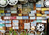 Vintage License Plates 3 (Horizontal Design)