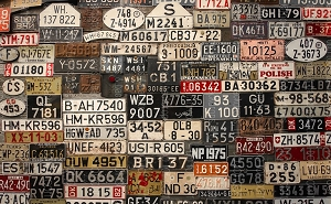 Vintage License Plates 2 (Horizontal Design)